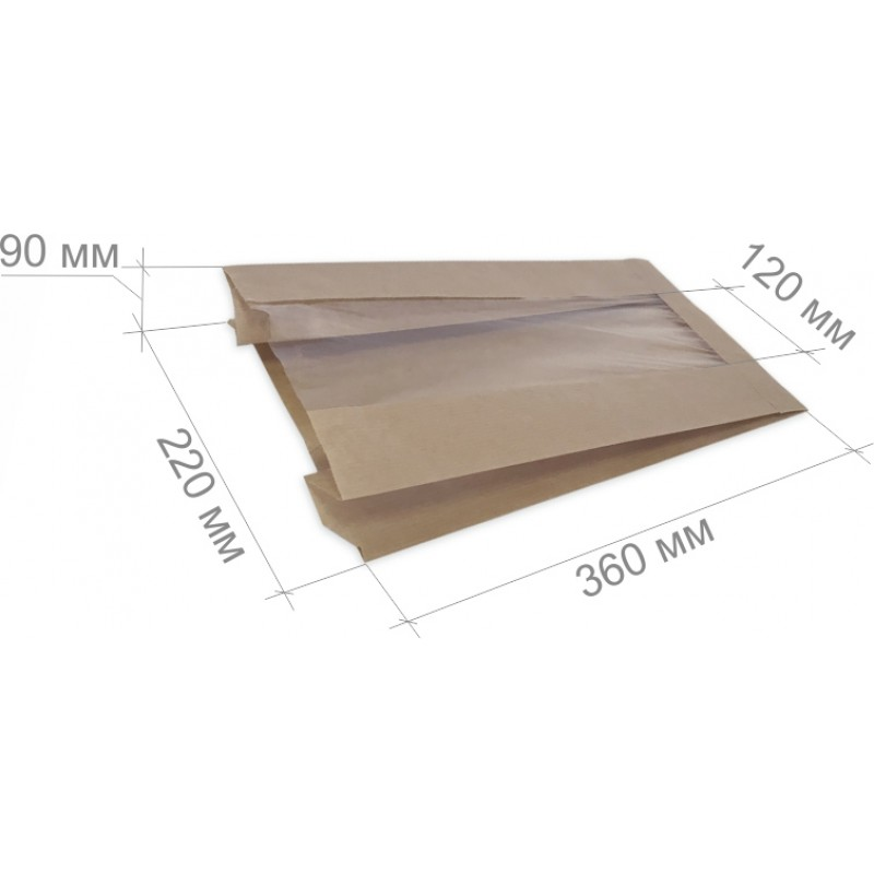 Размеры бумажного пакета